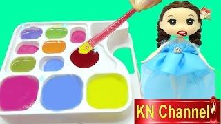 Đồ chơi nhật bản BÚP BÊ TẬP PHA MÀU おえかきキャンランド Japanese toy for kids