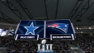 Madden 17: Dallas Cowboys Vs New England Patriots (2018 Super Bowl Prediction)