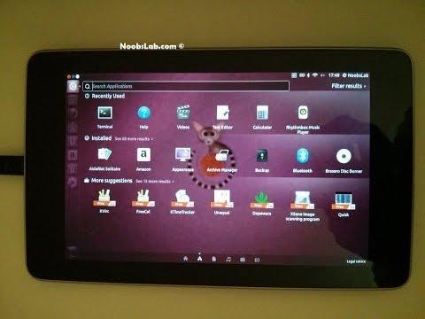 Ubuntu 13.04 Raring desktop on Nexus 7 tablet