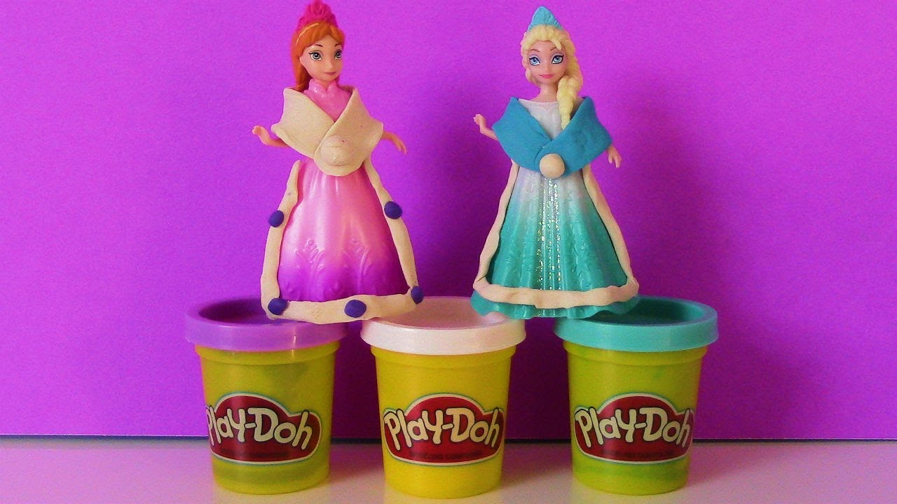 how to make elsa with play doh