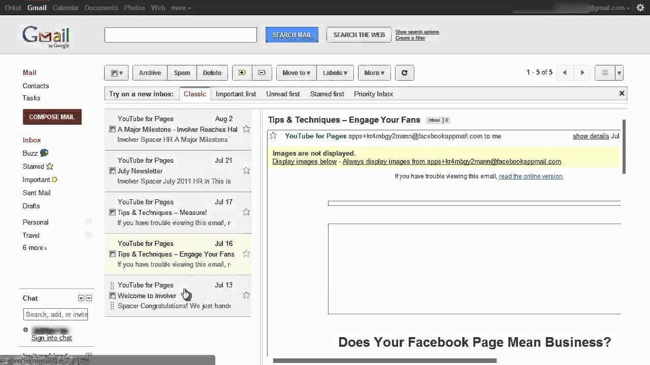 Divide Gmail layout vertically or horizontally with