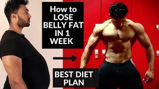 How to Lose Belly Fat in 1 Week (Men & Women) Diet| Tips