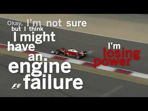 Vettel's team radio after his engine failure in formation lap - Bahrain GP 2016