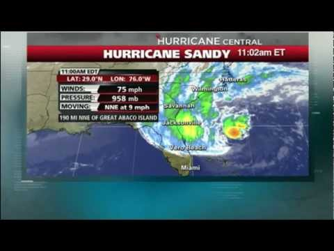 DANGEROUS HURRICANE SANDY HEADING FOR NEW YORK USA 27TH OCTOBER 2012
