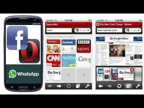 Opera Mini para acceder al chat de Facebook como opcion a Whatsapp en celulares chinos y tablet.