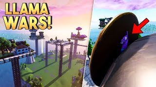 LLAMA WARS! v2 - Fortnite Creative met Rudi (Nederlands)