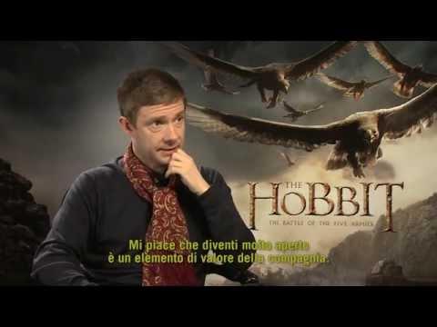 Martin Freeman nel ruolo di Bilbo Baggins ne