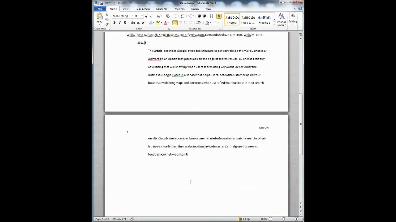 Annotated Bibliography From Internet Source