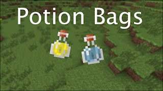 Potion Bags -- Vanilla Minecraft 1.9 Command Blocks