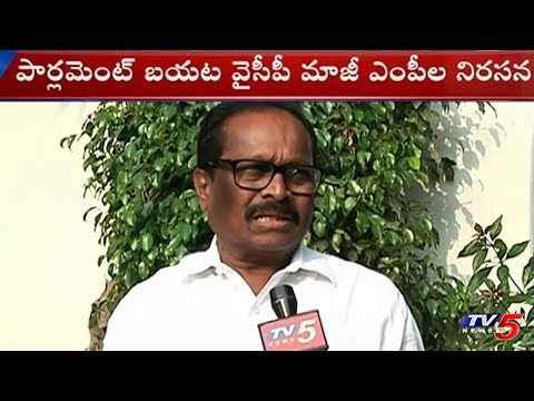 YCP Ex-MPs Protest Outside Parliament For Justice To Andhra Pradesh | TV5News