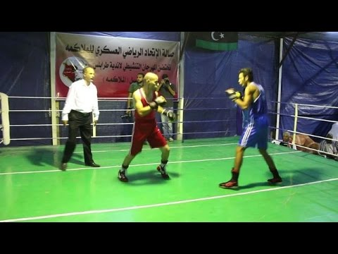 Tripoli boxers take to the ring to keep sport alive