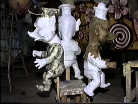 Carnevale Acireale 1991 - Un giro nei cantieri