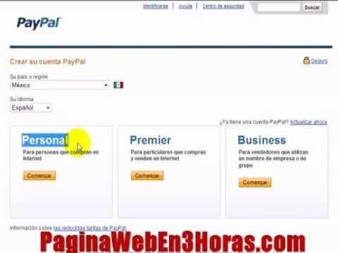 paypal español crear cuenta