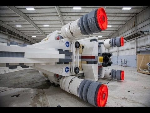 World's Largest Lego Model: A life-size X-wing fighter, made of 5.3 million Lego bricks