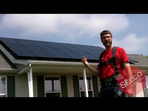 SECCO Inc. Installation of Sunpower X Series Panels