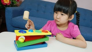 Be Bun Play Wooden Ball Hammer Learn Colors for Kids and Children | Baby Toysreview