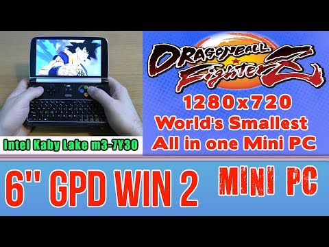 GPD WIN 2 Dragon Ball FighterZ on Handheld Mini PC - 256 GB SSD 8GB RAM Intel Core m3-7Y30 HD 615