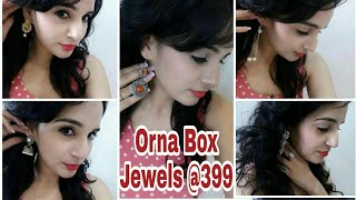 ORNA BOX JEWELS - October 2017 | Free Diwali Gift |  Unboxing & Review | Giveaway Coming Soon