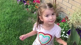 Learn Colors DANCING Fun Flower Garden Enjoying Outdoors Green Grass Family Vlog Kinder Playtime