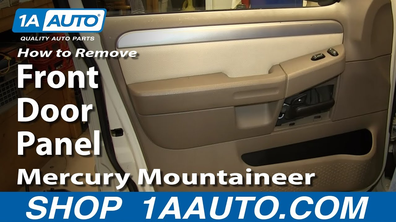 How To Remove Install Passenger Front Door Panel Mercury
