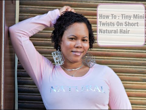 Mini Twists On Short Quot Natural Hair Quot Youtube