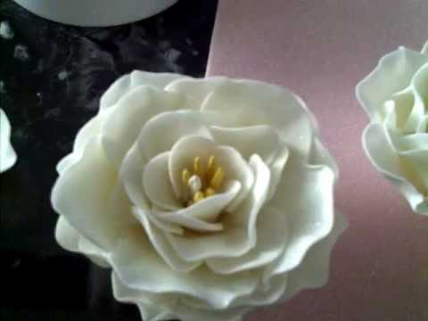 How To Make A Simple Elegant Gumpaste Fondant Flower Youtube