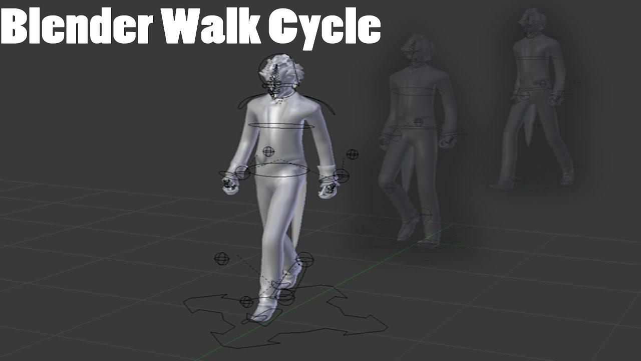Blender walking cycle minecraft animation tutorial