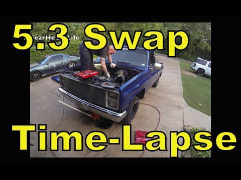 LSx 5.3 Swap Time Lapse - '87 Chevy Truck C10 R10 LS1
