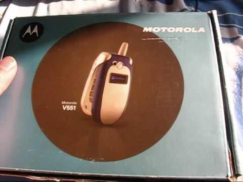 Motorola V551 Unboxing