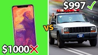 9 Cars CHEAPER Than The New iPhone X!!