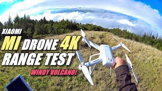 XIAOMI MI Drone 4K Windy Range Test - How far will it go?