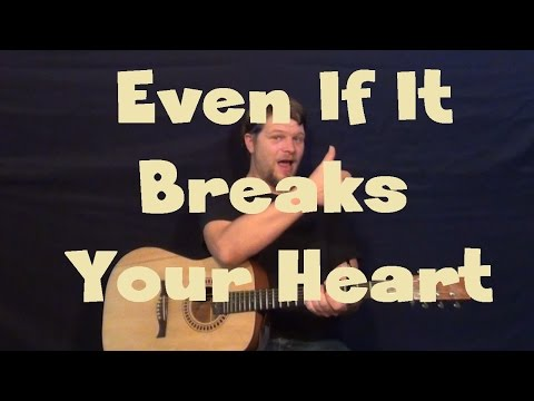 Even If It Breaks Your Heart (Eli Young Band) Guitar Lesson Easy Strum Chords F C Am G How to Play
