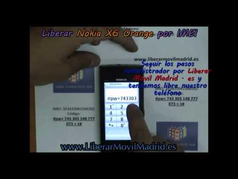 Liberar Nokia X6 Orange por Código IMEI - www.LiberarMovilMadrid.es