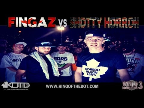 KOTD - Rap Battle - Fingaz vs Shotty Horroh (CANADA VS ENGLAND)