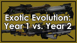 Destiny Taken King: Exotic Evolution - How Exotic Weapons Have Changed From Year 1 to 2
