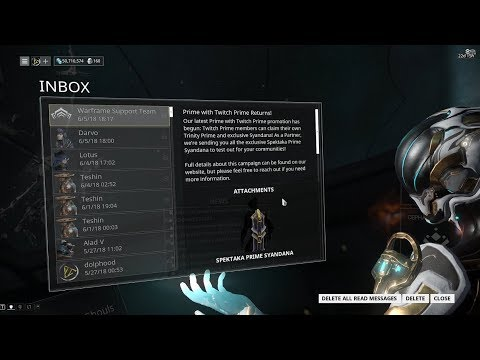 Spektaka Prime Syandana Review & Humble Bundle Warframe Freebies.