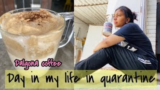A Day In my life in Quarantine | Trying out the famous Dalgona Coffee | Azra Khan Fitness