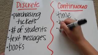 Discrete vs. Continuous Relationships Tutorial