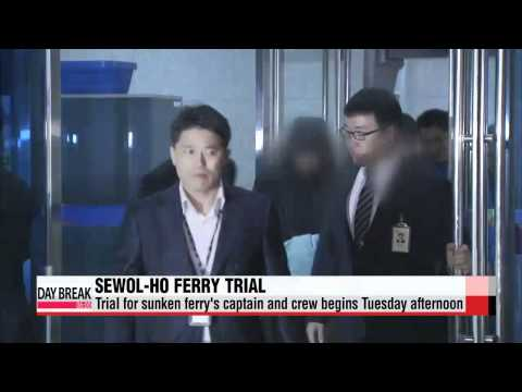 Trial for sunken ferry's captain and crew begins Tuesday afternoon