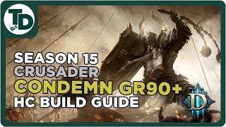 Hardcore Immortal Crusader Low Paragon | Akkhan Condemn Crusader Build | Hardcore Diablo 3 Season 15
