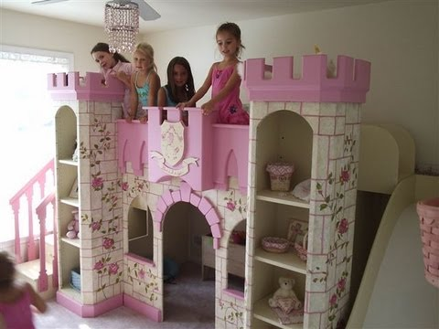 Beautiful Girls Princess Room Princess Castle Bed Youtube
