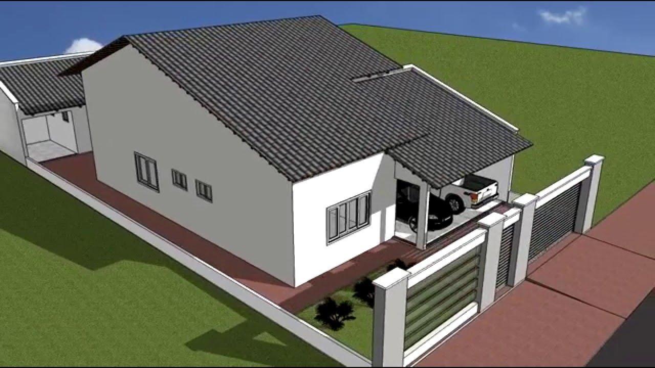 Projeto 3d casa 05 youtube for Casas 3d