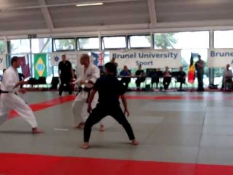 9th International Aikido Tournament: Men's ind. tanto randori finals, Liburd versus Ramey Image 1