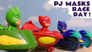 PJ Masks Race Day | Learn colors with fun cars racing PJ Masks toys and the funny Funlings TT4U