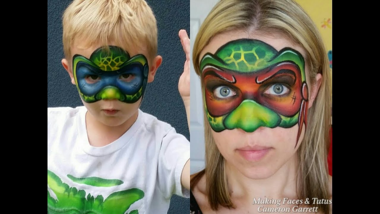 Ninja Turtle Face Painting Tutorial YouTube