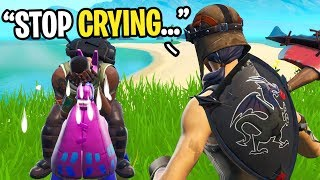 I made this kid start CRYING in Fortnite random duos... (emotional)