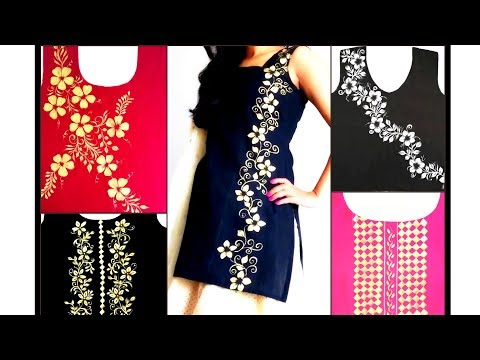 Designer Golden work Suits / Kurtis / Dresses| Making of Designer Dress for festive season