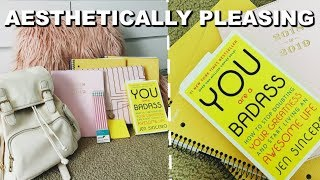 BACK TO SCHOOL SUPPLIES HAUL 2018 (AESTHETICALLY PLEASING)