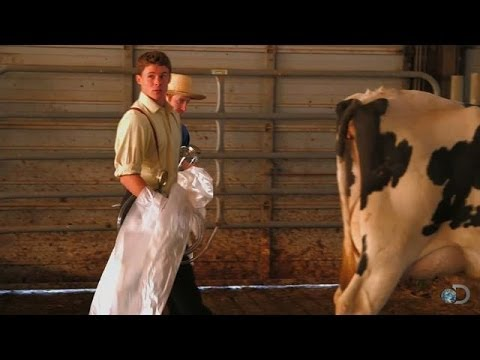 Caleb Makes Cow Fart Bombs | Amish Mafia