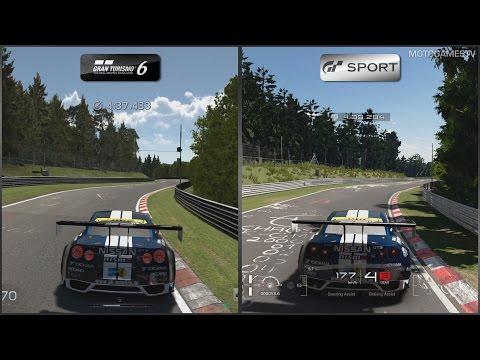 Gran Turismo 6 vs Gran Turismo Sport Beta - Nissan GT-R NISMO GT3 at Nordschleife